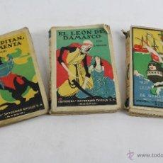 Libros antiguos: L-2643. 3 NOVELAS DE EMILIO SALGARI. ED. SATURNINO CALLEJA, MADRID.. Lote 52364064