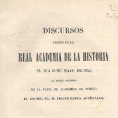 Libros antiguos - Felipe Canga Argüelles. Servicios prestados por las Ordenes religiosas a las ciencias. Madrid, 1852. - 52278239