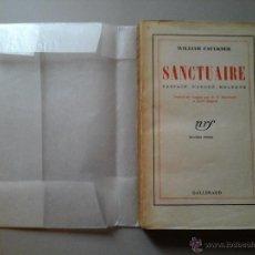 Libros antiguos: WILLIAM FAULKNER. SANCTUAIRE / SANTUARIO. PREFACE ANDRÉ MALRAUX. EDICIÓN FRANCESA 1934.RARO. Lote 52419754