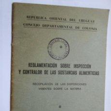 Libros antiguos: URUGUAY 1965, BROMATOLOGIA ALIMENTOS. FOOD BROMATOLOGY, ALIMENTAIRE BROMATOLOGIE. Lote 52457075