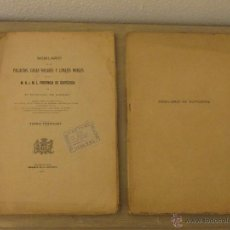 Libros antiguos: NOBILIARIO. PALACIOS, CASAS SOLARES Y LINAJES NOBLES. GUIPUZCOA. LIZASO.. Lote 52487458