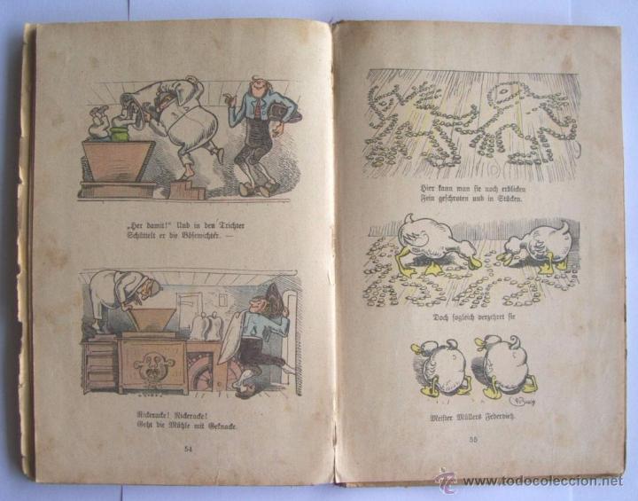Libros antiguos: ANTIGUO LIBRO INFANTIL MAX Y MORITZ EN ALEMÁN GÓTICO - ENVÍO GRATIS DESDE URUGUAY - Foto 4 - 52492289