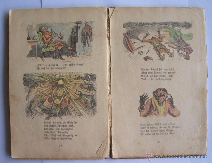 Libros antiguos: ANTIGUO LIBRO INFANTIL MAX Y MORITZ EN ALEMÁN GÓTICO - ENVÍO GRATIS DESDE URUGUAY - Foto 5 - 52492289