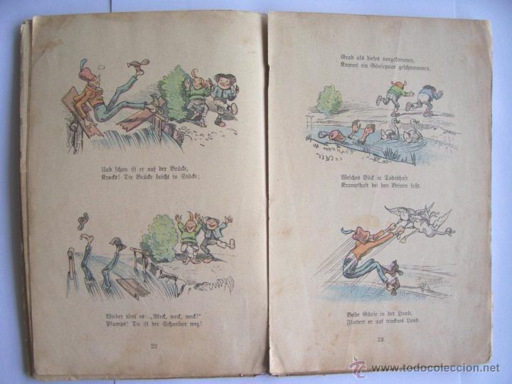 Libros antiguos: ANTIGUO LIBRO INFANTIL MAX Y MORITZ EN ALEMÁN GÓTICO - ENVÍO GRATIS DESDE URUGUAY - Foto 7 - 52492289