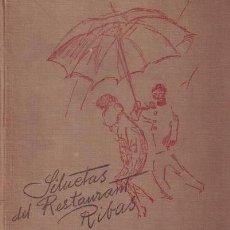 Libros antiguos: SILUETAS DEL RESTAURANT RIBAS. UNAS POCAS PALABRAS POR 'GOLF-COCK-TAIL' Y DIBUJOS DE RICARDO MARIN. Lote 52507009