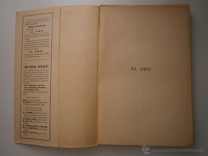 Libros antiguos: EL ORO BLAISE CENDRARS Dedalo 1 edicion 1931 - Foto 7 - 52576700