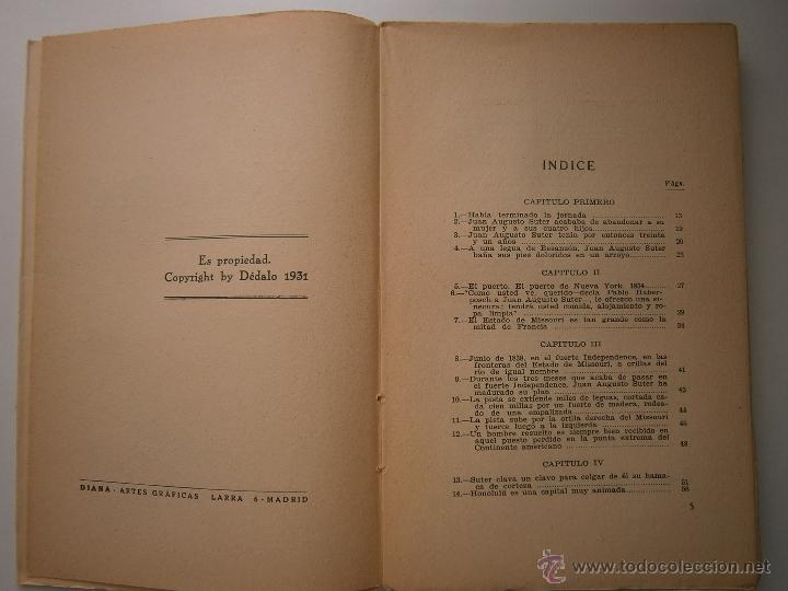 Libros antiguos: EL ORO BLAISE CENDRARS Dedalo 1 edicion 1931 - Foto 9 - 52576700