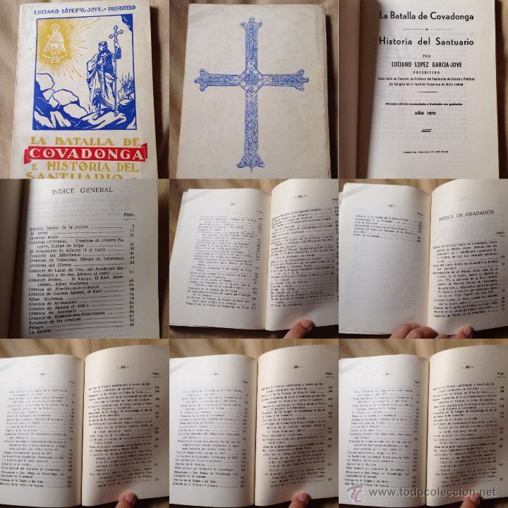 LA BATALLA DE COVADONGA E HISTORIA DEL SANTUARIO. PREBISTERO LUCIANO LÓPEZ G. JOVE (Libros Antiguos, Raros y Curiosos - Historia - Otros)