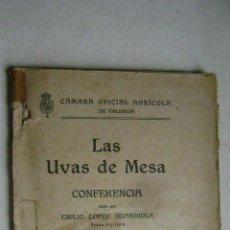 Libros antiguos: LAS UVAS DE MESA.CONFERENCIA DADA EN 1926.L-302. Lote 52616373