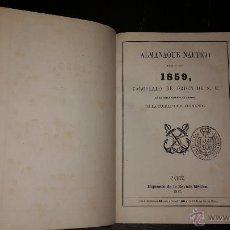 Libros antiguos: ALMANAQUE NAUTICO PARA EL AÑO 1859.. Lote 52626121