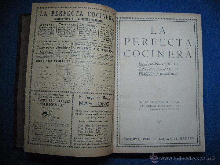 Libros antiguos: La perfecta cocinera. Enciclopedia de la cocina familiar práctica y económica... [c.1922] - Foto 3 - 52667756