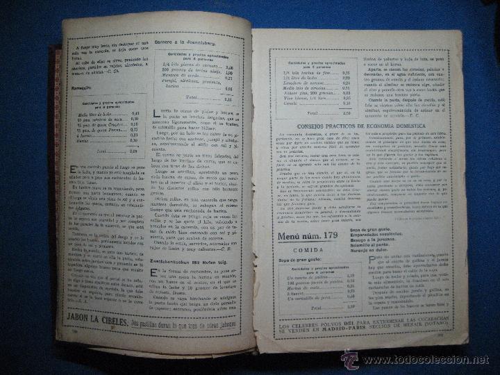 Libros antiguos: La perfecta cocinera. Enciclopedia de la cocina familiar práctica y económica... [c.1922] - Foto 5 - 52667756