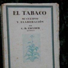 Libros antiguos: EL TABACO - 1938 - CULTIVO Y ELABORACIÓN - ESCUDER. Lote 52670301
