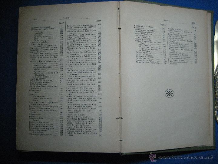 Libros antiguos: La nueva cocina elegante española. Domenéch, Ignacio. [1ª ed.] 1915 - Foto 5 - 52739458