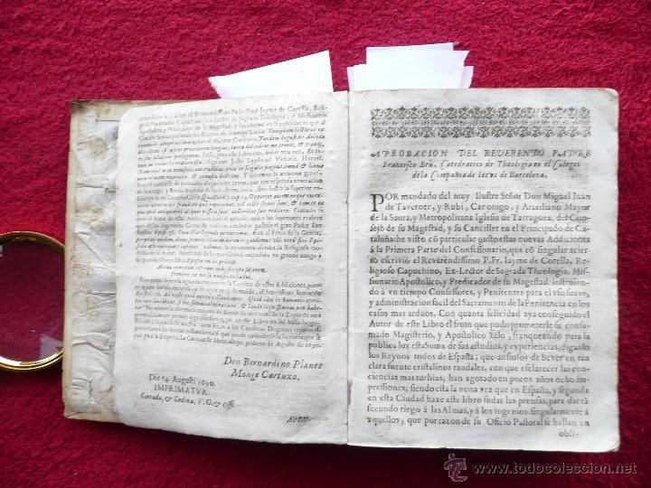 Libros antiguos: PRACTICA DE EL CONFESSONARIO, NONA IMPRESSION, JAYME DE CORELLA, IMPRE. RAFAEL FIGVERO, 1690 - Foto 7 - 52741929