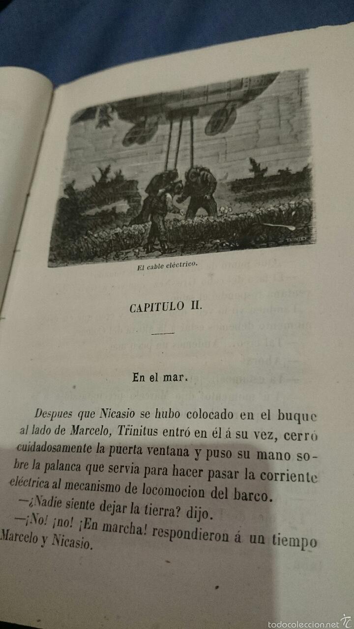 Libros antiguos: 1870 Viaje por debajo de las olas, redactado según el diario de a bordo (El relámpago), 1ª edicion. - Foto 5 - 52774054