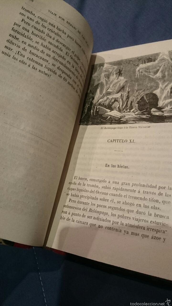 Libros antiguos: 1870 Viaje por debajo de las olas, redactado según el diario de a bordo (El relámpago), 1ª edicion. - Foto 6 - 52774054