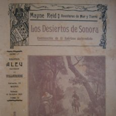 Libros antiguos: LOS DESIERTOS DE SONORA TOMO IV BIBLIOTECA ALEU 1909. Lote 52870789