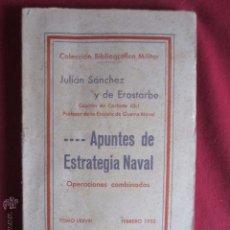 Libros antiguos: .....APUNTES DE ESTRATEGIA NAVAL - 1935. Lote 52931852