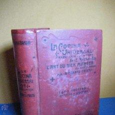 Libros antiguos: BLANCO PRIETO, A. LA COCINA UNIVERSAL, COLECCIÓN DE FÓRMULAS... [S.A., C.1910]. Lote 202535053