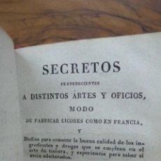 Libros antiguos: ...MODO DE FABRICAR LICORES COMO EN FRANCIA...JOSE ANTONIO GIMENEZ Y FORNESA. 1829.. Lote 52966826