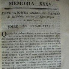 Libros antiguos: LAS ESCARLATAS.EL NUEVO PERFECTO TINTORERO.TINTES .1778. Lote 52997332