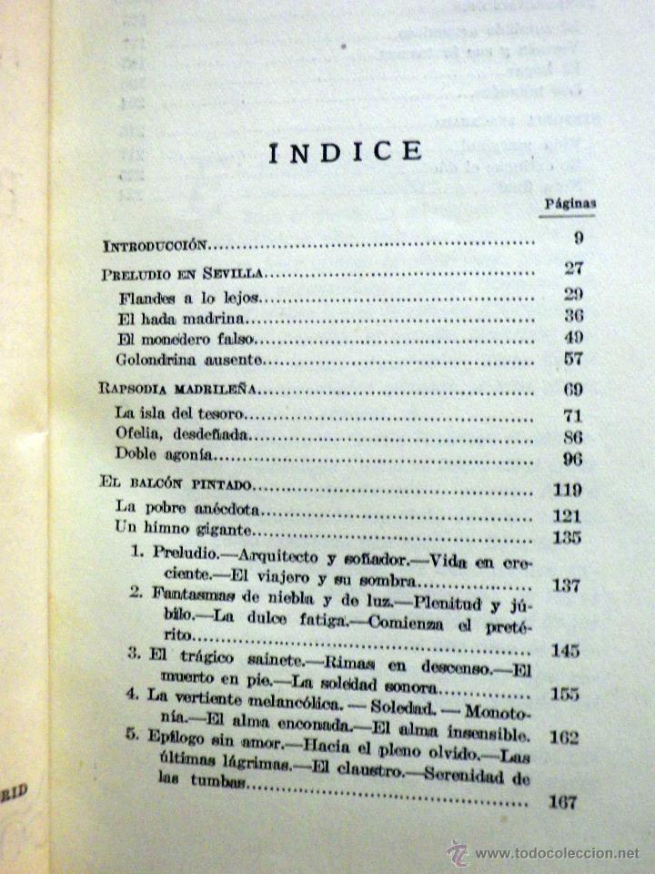 Libros antiguos: LIBRO, DOBLE AGONIA DE BECQUER, BENJAMIN JARNES, ESPASA CALPE, 1ª EDICION, 1936 - Foto 7 - 53004880