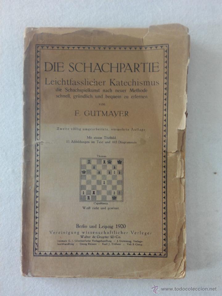 Manual cl sico de ajedrez die schachpartie f comprar - Libros antiguos valor ...