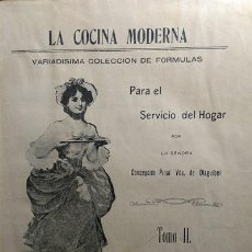 Libros antiguos: LA COCINA MODERNA MEXICO 1909. Lote 53052757