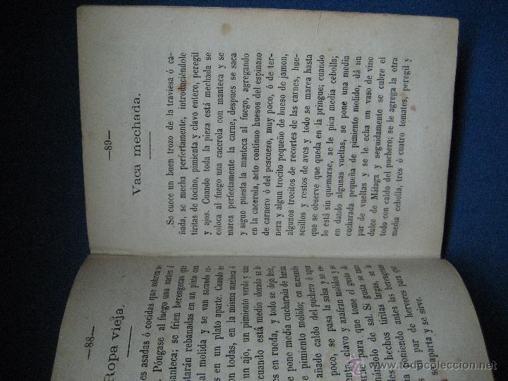 Libros antiguos: Moyano, Guillermo. El cocinero español y la perfecta cocinera... 2ª ed. 1873 - Foto 3 - 124619836