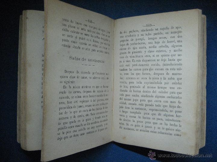 Libros antiguos: Moyano, Guillermo. El cocinero español y la perfecta cocinera... 2ª ed. 1873 - Foto 4 - 124619836
