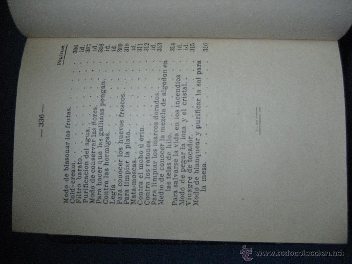 Libros antiguos: Moyano, Guillermo. El cocinero español y la perfecta cocinera... 2ª ed. 1873 - Foto 7 - 124619836