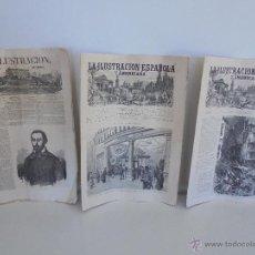 Libros antiguos: PERIODICO. LA ILUSTRACION UNIVERSAL 1851. PERIODICOS LA ILUSTRACION ESPAÑOLA Y AMERICANA 1878.. Lote 53112634