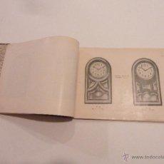 Libros antiguos: CATÁLOGO DE RELOJES DE PARED, SOBREMESA Y CARRILLÓN - SIN MARCA. Lote 53138882