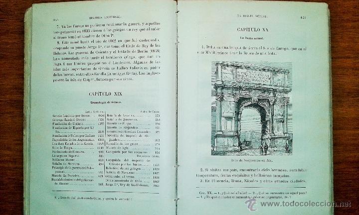 Libros antiguos: ANTIGUO LIBRO HISTORIA UNIVERSAL PARA NIÑOS. MANTILLA. 1885 - Foto 3 - 53147236