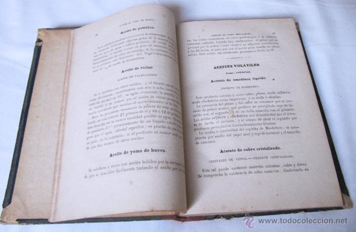 Libros antiguos: 1874 - LIBRO MANUAL DE FALSIFICACIONES - BAJO EL PUNTO DE VISTA FARMACEUTICO - FEDERICO PRATS GRAU - Foto 5 - 53243731