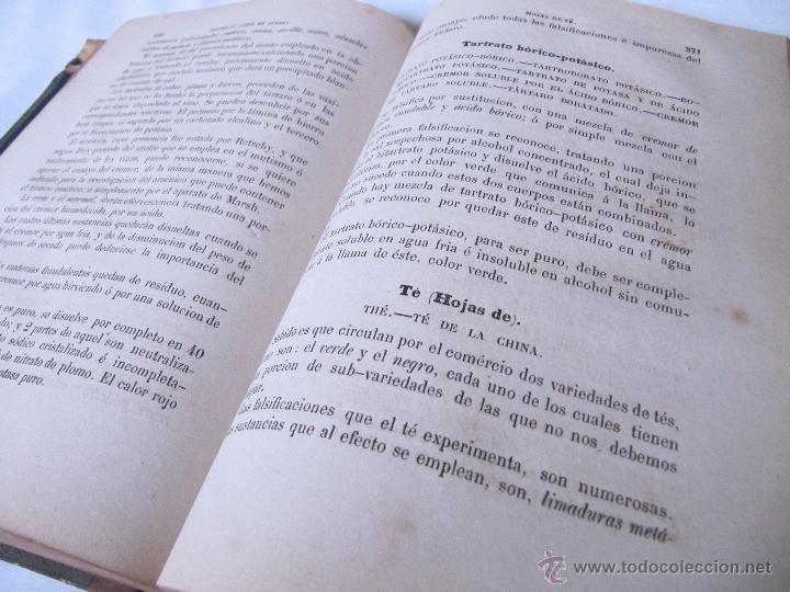 Libros antiguos: 1874 - LIBRO MANUAL DE FALSIFICACIONES - BAJO EL PUNTO DE VISTA FARMACEUTICO - FEDERICO PRATS GRAU - Foto 9 - 53243731