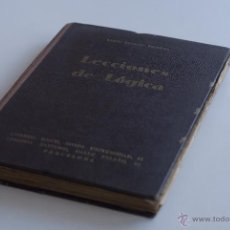Libri antichi: LECCIONES DE LOGICA - EMILIO DONATO Y PRUNERA 1933. Lote 53300776