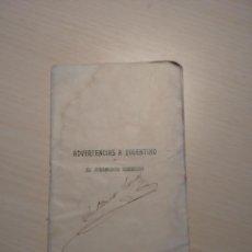 Libros antiguos: ADVERTENCIAS A TOLENTINO EL JURAMENTO GUERRERO. Lote 53341988