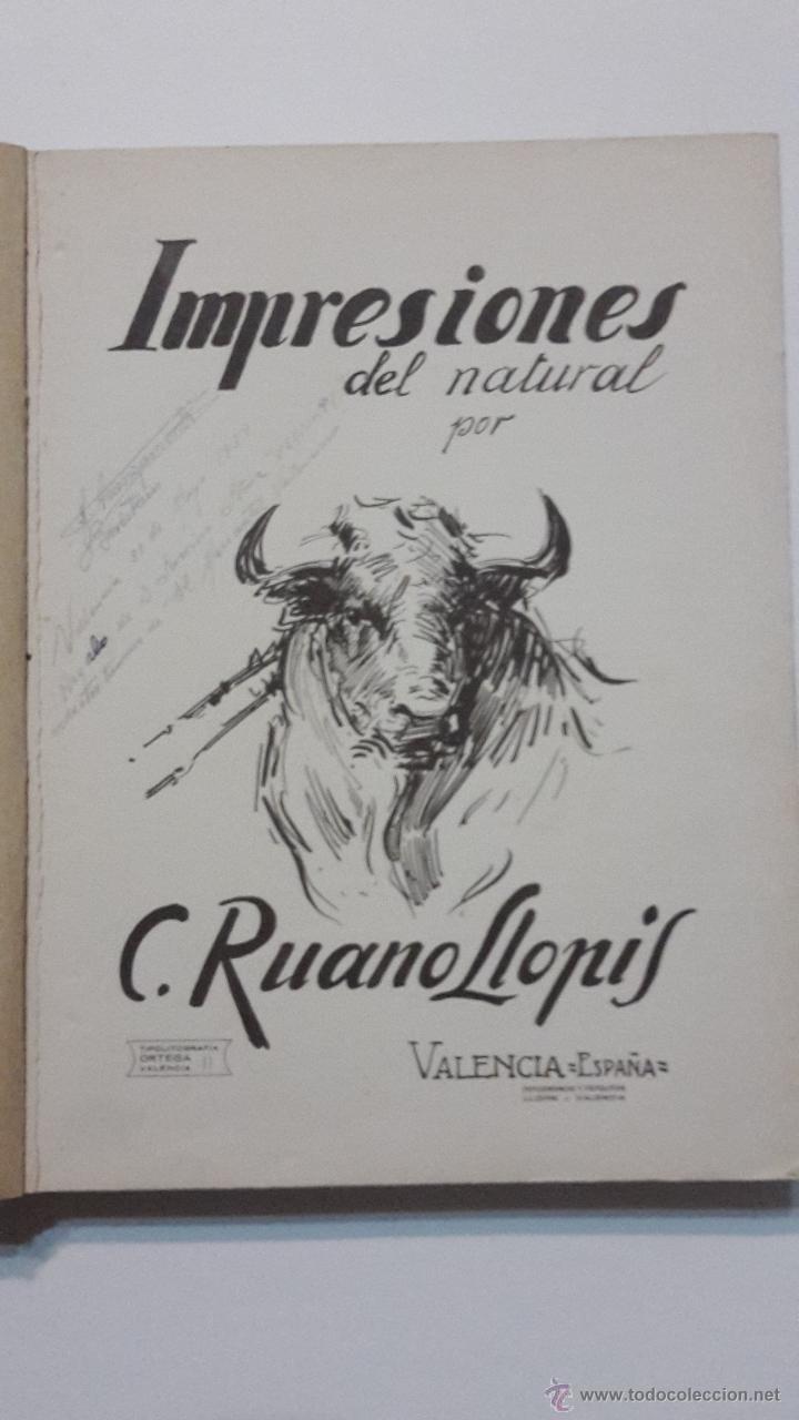 Libros antiguos: IMPRESIONES DEL NATURAL C. Ruano Llopis. - Foto 2 - 53358246