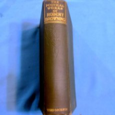 Libros antiguos: THE POETICAL OF, ROBERT BROWNING. Lote 53359059
