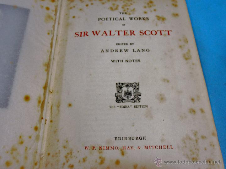 Libros antiguos: THE POETICAL WORKS OF SIR WALTER SCOTT - Foto 7 - 53359349