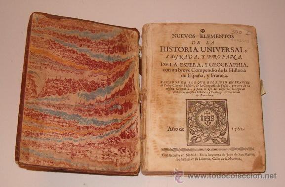 Libros antiguos: PADRE CLAUDIO BUFFIER. Nuevos elementos de la Historia Universal, Sagrada, y Profana. RM72491. - Foto 2 - 53368605