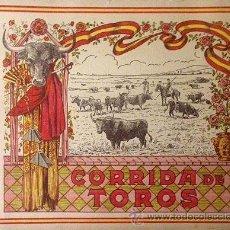 Libros antiguos: CORRIDA DE TOROS. CIRCA 1920. ALBUM CON 20 LÁMINAS FOTOGRÁFICAS COLOREADAS. . Lote 53442530