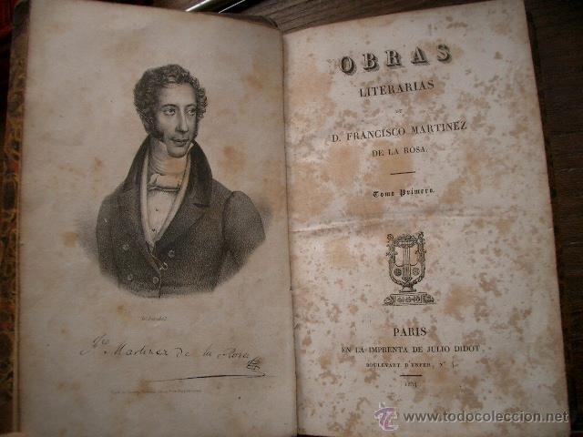 Libros antiguos: Obras literarias de D. Francisco Martínez de la Rosa. Poética. 1834 tomo I - Foto 3 - 53444102