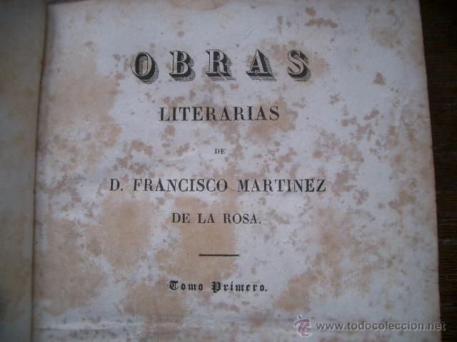 Libros antiguos: Obras literarias de D. Francisco Martínez de la Rosa. Poética. 1834 tomo I - Foto 4 - 53444102