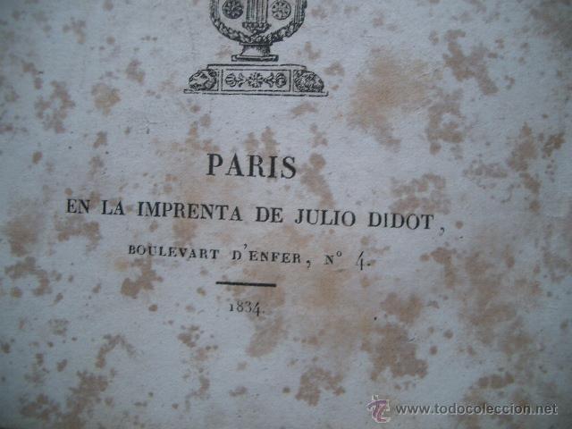 Libros antiguos: Obras literarias de D. Francisco Martínez de la Rosa. Poética. 1834 tomo I - Foto 5 - 53444102