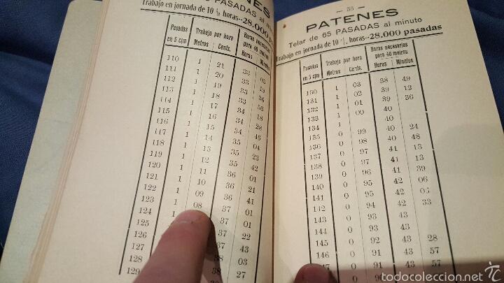 Libros antiguos: Tarifas de trabajo para tejedores mecánicos. Alcoy, Alicante. 1915. Raro!! - Foto 5 - 53497627