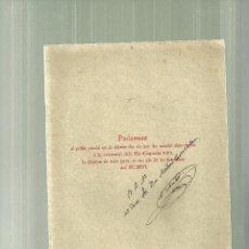Libros antiguos: 903.- SERAFI PITARRA-PARLAMENT DEL SEU FILL EN LA INAUGURACIO DE LA ESTATUA A SON PARE. Lote 53508011