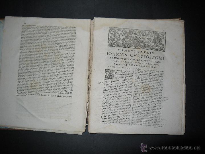 Libros antiguos: SANCTI PATRIS JOANNIS CHRYSOSTOMI ARCHIEPISCOPI CONSTANTINOPOLITANI OPERA OMNIA, 1780. - Foto 9 - 53535948